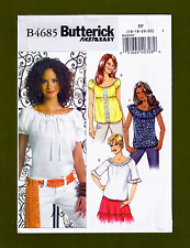 Fast & Easy Peasant Blouse Sewing Pattern~4 Variations! (16-22) Butterick 4685