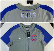 Nike BSBL Dri Fit Men's LARGE MLB CHICAGO CUBS Short Sleeve Jersey Shirt NEW