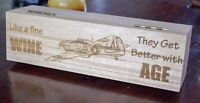 Aircraft Wine and Champagne Bottle Wooden Gift Box - Hawker Hurricane