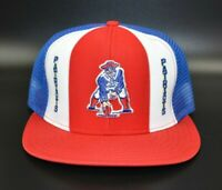 New England Patriots AJD Lucky Stripes NFL Vintage 80's Trucker Snapback Cap Hat