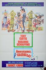 1966 ARRIVEDERCI BABY 1SH ORIGINAL MOVIE POSTER TONY CURTIS ZSA ZSA GABOR
