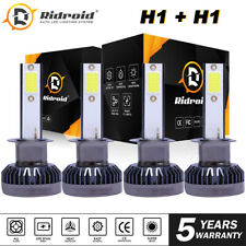H1 H1 Combo 4000w 600000lm Led Headlight High Low Beam Kit Bulbs White 6000k 4x Fits 2004 Volkswagen Beetle