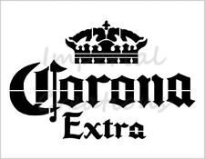 """""""Corona Extra"""" Beer Alcohol Crown Logo 8.5"""" x 11"""" Stencil Plastic Sheet New S269"""