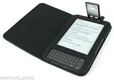 LEATHER CASE COVER READING LIGHT FOR AMAZON KINDLE 3 3G