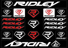 RIDLEY Bicycle Bike Frame Decals Sticker Adhesive Graphic Vinyl Aufkleber White