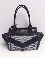 Botkier Satchel Small Leather Trigger (Black/White) MSRP: $298