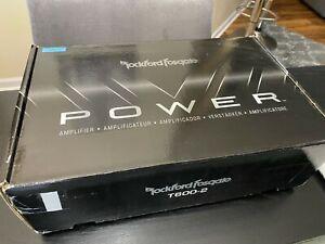 NEW ROCKFORD FOSGATE POWER T600-2 2 CHANNEL SPEAKER OR SUBWOOFER AMPLIFIER
