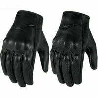 Riding Bike Racing Motorcycle Protective Armor Short Leather Gloves Mesh M-XL