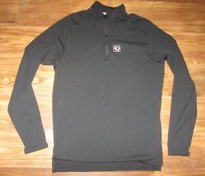 PEARL IZUMI Mens Long-Sleeve Cycling Jersey, Pocket, Black, Size M, EUC