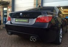BMW 530D/E60 M5 STYLE EXHAUST CONVERSION INC REAR VALANCE.STAINLESS STEEL