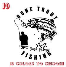 Trota pesca Vinile Adesivi Decalcomanie, auto, finestre, van, laptop (ref n. 10)