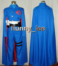 G.I. Joe Cobra Commander Cosplay Costume with Blue Cape Custom-Made