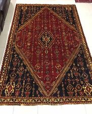 Beautiful Ghashghaei Persian Wool Rug with Diamond Motif Medallion Pattern