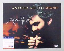 52221 Andrea Bocelli Sogno Opera Singer Signed 11x14 Photo Auto Psa/Dna Coa