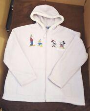 Disney Womens Mickey Mouse Fleece Zip Stitched Hoodie Jacket Purple Hood Soft