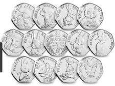 CHEAP AND COMMEMORATIVE UNCIRCULATED BEATRIX POTTER 50p COINS - JEMIMA ETC