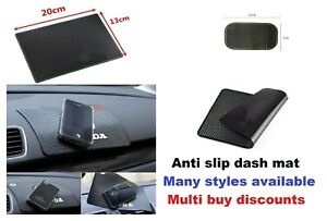 Non slip car dash mat pad phone holder anti slip keys coin car logo