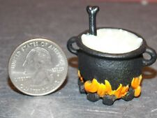 Dollhouse Miniature Halloween Witch Cauldron GLOWS 1:12 scale F54 Dollys Gallery