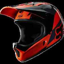 CASCO MTB DOWNHILL DH FOX FIBRA RAMPAGE MAKO ORANGE TG. L