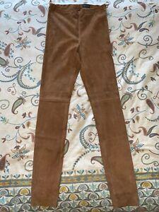 Oakwood Velour Ziegen Leder Leggings Hose Cognac Gr.44 (eher kleiner) neuwertig