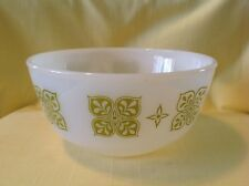 """Fire King Anchor Hocking Milk Glass Olive DUTCH CLOVER 6"""" Mixing Bowl (loc-comp)"""