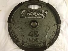 TROY METAL 45LB WEIGHT PLATE