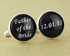 Custom Father of the Bride Groom Groomsmen Cufflinks Wedding Cuff Links Gift 134