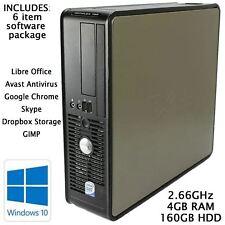 Cheap Dell Desktop PC Windows 10 Pro Computer Core 2 Duo Tower 4GB RAM 160GB