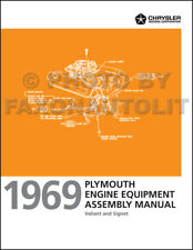 1969 Plymouth Valiant Engine Equipment Assembly Manual 170 225 273 318