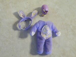 Mattel KELLY DOLL Clothes PURPLE BUNNY RABBIT EASTER Outfit & Basket FREE SHIP