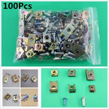 100X Mixed Car Fastener Fixed Screw U Type Gasket Clip For Car Door/Panel/Fender