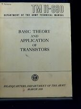 Army TM11-690 Basic Theory and Application of Transistors G PB 170601