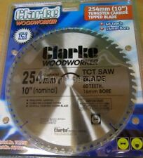 254mm bench saw Blade 60 Tooth 16mm bore hole for Clarke 10 inch table saw