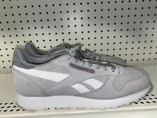 Reebok Classic Leather Mens Athletic Shoes Sneakers Size 11.5 Gray White CN7105