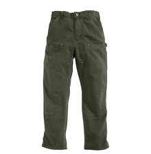 NEW Men's 42x34 Carhartt Washed Duck Double-Front Work Dungaree Pants - Moss