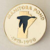 Manitoba Pond 1990 Canada Waterfowl Eco Souvenir Pin Badge Rare Vintage (D5)