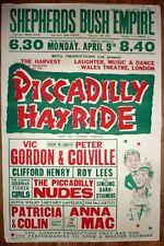 Shepherds Bush Empire Vintage 1940's Theatre Poster  Vic Gordon Peter Colville