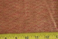 By 1/2 Yd, Metallic-Gold on Red Quilting Cotton, JoAnn, N1735