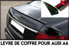 SPOILER LEVRE COFFRE BECQUET AILERON pour AUDI A6 C6 2005-10 S6 RS6 FSI TFSI V10