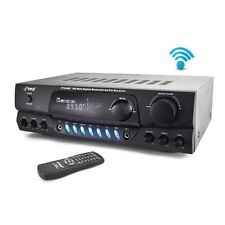 NEW Pyle PT265BT 200W Bluetooth Receiver Amplifier AM/FM 2 MIC Inputs Karaoke