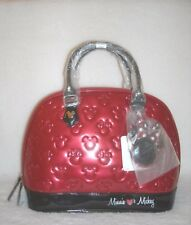 NWT Disney Loungefly Minnie Loves Mickey Red Embossed Bowler Bag