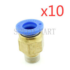 10XMale Connector 8mm Tube 1/8 BSPT Threaded Pneumatic Quick Release Air Fitting