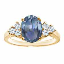 Topaz Solitaire Yellow Gold 2.00 - 4.99 Fine Gemstone Rings