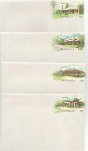 1988 Australia ※ Historic Homesteads [No Pmks] ~ PSEs (x6)