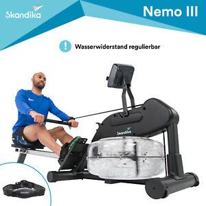 Skandika Nemo III Wasser-Rudergerät Ruderzugmaschine Brustgurt Inklusive B-Ware