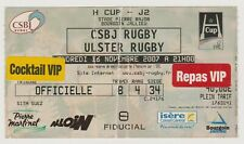 """Collection Rugby Ticket """"H Cup """" Bourgoin Jallieu - Ulster Rugby 16/11/2007"""