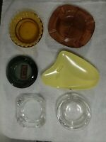 Vintage Ashtray..u pick one or more...motels,atomic,wood, amber and clear glass