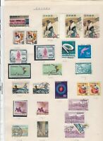 Japan stamps on album page Ref 9875