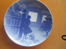 Weihnachtsteller 1919,Bing & Gröndahl , blau, Danemark, Sammelteller