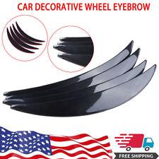 4pcs Carbon Fiber Style Car Wheel Eyebrow Arch Protector Trim Lips Fender Flares Fits Saab
